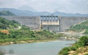 Toàn cảnh khu vực nhà máy Thủy điện Sông Tranh 2