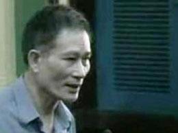 Blogger Điếu Cày trong phiên tòa ngày 24.09.2012. DR