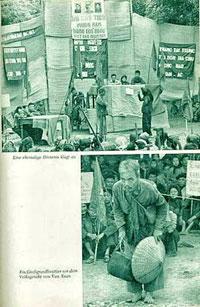 Hình ảnh Cải cách ruộng đất và Tòa án Nhân Dân của ĐCS Việt Nam. Tài liệu: Franz Faber,1955 Kongress – Verlag Berlin