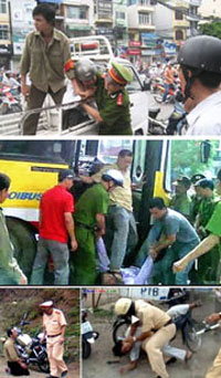 Một vài kiểu đàn áp dân lành của công an Việt Nam. RFA files