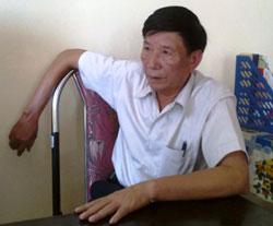Trưởng Công an xã Kim Nỗ - ông Nguyễn Đức Vọng. Photo courtesy of yume.vn