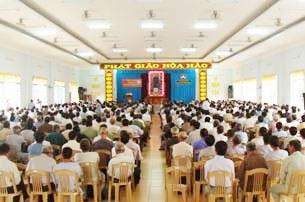 Các tín đồ giáo hội phật giáo hòa hảo dự hội nghị tại An Hòa Tự năm 2011(ảnh minh hoạ )