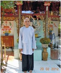 Tu Sĩ Phật Giáo Hòa Hảo Võ Văn Thanh Liêm trụ trì Quang Minh Tự hồi mới được ra tù tháng 2, 2012