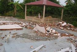 Một nơi hành lễ của các tín đồ PGHH bị công an đập phá, ảnh chụp trước đây. File photo.