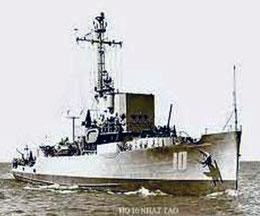 HQ-10 Nhật Tảo của VNCH đã nằm lại biển Hoàng Sa, năm 1974. Files photos