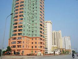 Một khu căn hộ cao tầng ở Hà Nội, ảnh chụp năm 2011. RFA PHOTO.