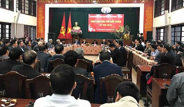 Hội nghị giao ban Báo chí đầu Xuân Kỷ Hợi 2019 được tổ chức ở Hà Nội hôm 12 tháng 2 năm 2019.