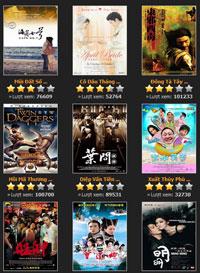 Các phim Trung Quốc được quảng cáo đầy trên mạng và tại các rạp chiếu phim. RFA screen capture
