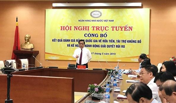 Ngân hàng Nhà nước, hồi tháng 05/19, lần đầu tiên công bố báo cáo kết quả đánh giá rủi ro quốc gia về rửa tiền và tài trợ khủng bố tại Việt Nam.