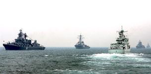 Trung Quốc thường xuyên phô trương lực lược trên Biển Đông. AFP