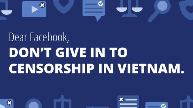 10 tổ chức vào ngày Tự do Báo chí Thế giới, 03/05/19 gửi thư ngỏ kêu gọi Facebook không được khuất phục biện pháp kiểm duyệt của Chính phủ Việt Nam.