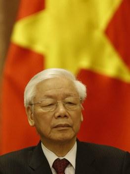 Tổng Bí thư kiêm Chủ tịch nước Nguyễn Phú Trọng ở Hà Nội hôm 9/11/2018