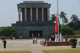 Lăng Chủ tịch Hồ Chí Minh ở Hà Nội hôm 11/10/2013.