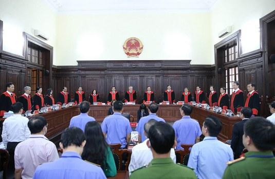 Quang cảnh phiên tòa giám đốc thẩm vụ án tử tù Hồ Duy Hải ngày 6/5/2020.