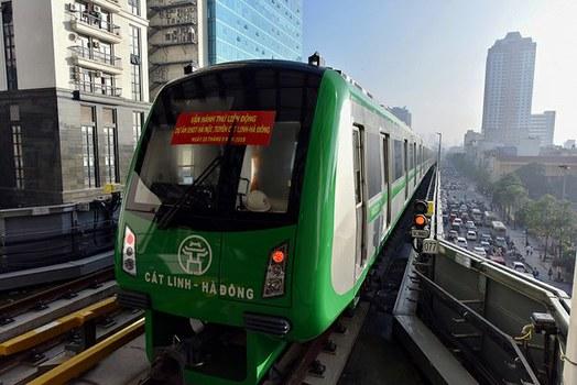 Hình minh họa. Tuyến đường sắt Cát Linh - Hà Đông ở Hà Nội