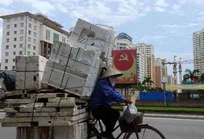 Người lao động Việt Nam. AFP photo