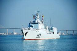 Khu trục hạm Trung Quốc Thâm Quyến DDG-167 - AFP photo