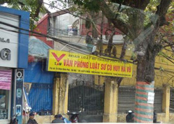 Văn phòng L.S Cù Huy Hà Vũ. Source Vietnamexodus