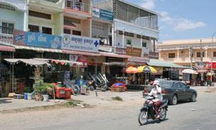 Một góc thành phố Svay Rieng, ảnh minh họa