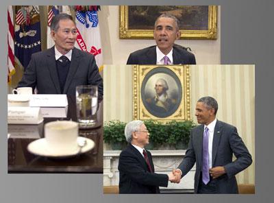 Tổng thống Barrack Obama đã đón tiếp tù nhân chính trị Điếu Cày Nguyễn Văn Hải tại phòng Bầu dục, trước chuyến đi của Tổng bí thư Nguyễn Phú Trọng