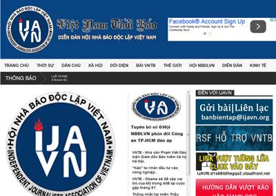Trang mạng tờ Việt Nam Thời Báo ngày 29 tháng 6, 2015