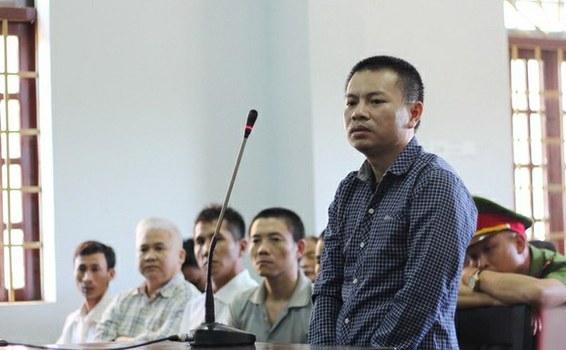 Ông Đặng Văn Hiến tại phiên tòa.
