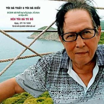 Ông Hà Quang Vinh, nguyên Phó Chủ tịch huyện Bình Chánh tuyên bố bỏ đảng vào ngày 27/10/18