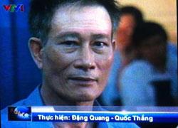 Blogger Điếu Cày tại phiên tòa sơ thẩm sáng 24/9/2012. Photo by Nguyễn Lân Thắng
