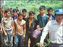 Nhiều người Thượng đã phải trốn sang Campuchia xin tỵ nạn. RFA file