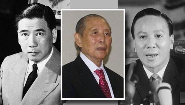 Từ trái Tổng thống Ngô Đình Diệm, Giáo sư Kinh tế Vũ Quốc Thúc và Tổng thống Nguyễn Văn Thiệu