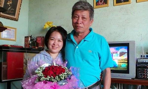 Cô Đỗ Thị Minh Hạnh và ba của cô