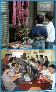 Trước trẻ em chỉ thèm thuồng phong pháo ngày Tết, nay chú trọng vào các quán chơi game...File photos