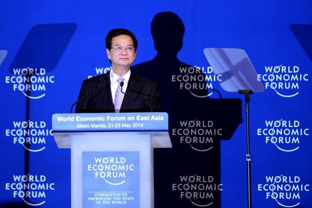 Lời phát biểu của Thủ tướng Việt Nam Nguyễn Tấn Dũng tại Diễn đàn Kinh tế Thế giới về Đông Á tại Manila vào ngày 22 tháng 5 năm 2014: Việt Nam không chấp nhận một nền hòa bình hữu nghị viển vông dựa trên mối quan hệ lệ thuộc.