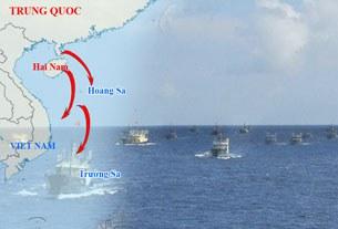 Trung Quốc đưa hơn 30 tàu cá lớn cùng nhiều tàu hải giám xuống quần đảo Trường Sa (tháng 5, 2013)