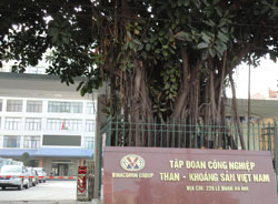 Trụ sở Tập đoàn Than - Khoáng sản Việt Nam tại Hà Nội hôm 18/11/2011. RFA PHOTO.