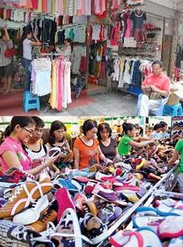Từ hàng may mặc đến giầy dép đều made in China (files photos)