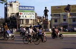 Đại lộ Hùng Vương - Sài Gòn. AFP photo
