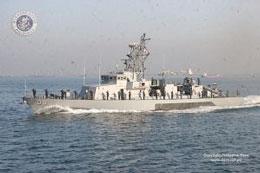 Một loại tàu tuần dương hạm của Philippines hoạt động trên Biển Đông. Source navy-mil.phi/organisation