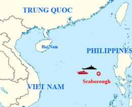 Bãi cạn Scaborough khu vực biển tranh chấp giữa Philippines và Trung Quốc