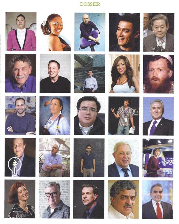 Hình LS Lê Quốc Quân trong Bài báo Les 50 qui changent le monde trên tuần báo Nouvel Observateurs. Photo courtesy of Nouvel Observateurs.