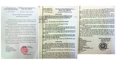 Hai văn bản về việc thủ tướng Nguyễn Tấn Dũng chỉ thị chia đất nhà ông Cù Huy Hà Vũ