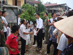 Một vụ cưỡng chế đất ở Thái Nguyên. Ảnh minh họa. RFA file