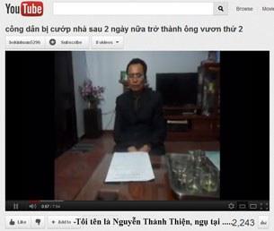 Ông Nguyễn Thành Thiện trình bày những điều bất công trên mạng internet.