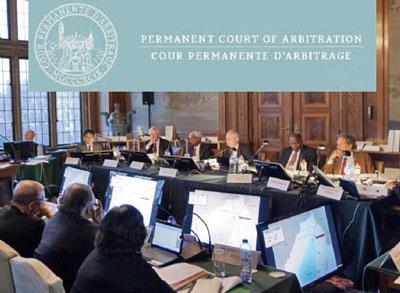 Tòa trọng tài thường trực (PCA) đã ra phán quyết khẳng định có đủ thẩm quyền xét xử vụ Philippines kiện Trung Quốc liên quan đến tranh chấp ở Biển Đông – Ảnh: PCA