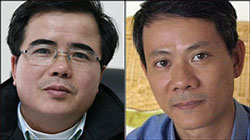 LS Lê Quốc Quân (trái) và BS Phạm Hồng Sơn. RFA file
