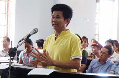 Ông Trần Minh Lợi tại phiên sơ thẩm.