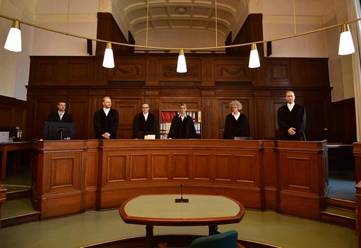 Hình minh họa. Tòa án hình sự ở Berlin xét xử Nguyen Hai Long hôm 24/4/2018.