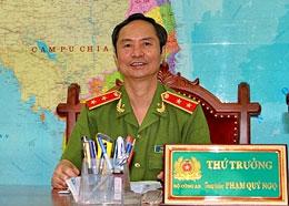 Thượng tướng Phạm Quý Ngọ, Thứ trưởng Bộ Công an. Source baophapluat.vn