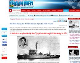 Báo Thanh Niên, tờ báo có uy tín trong nước cũng cho ra loạt bài kỷ niệm 40 năm trận hải chiến Hoàng sa. Source ThanhNien online
