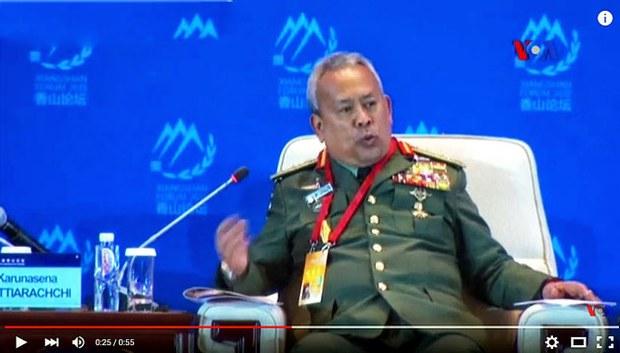 Tướng Zulkefli Mohd Zin Tham mưu trưởng lực lượng vũ trang Malaysia phát biểu tại Diễn đàn Hương Sơn